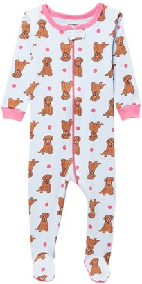 Leveret Puppy Footed Pajama Sleeper (Baby Girls & Toddler)