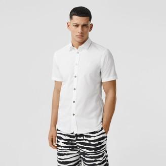 Burberry Short-sleeve onogra otif Stretch Cotton Shirt