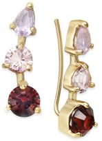 Kate Spade Gold-Tone Multi-Stone Ear Climbers
