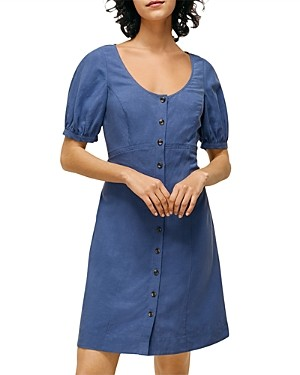 Whistles Tara Scoop Linen Mix Dress