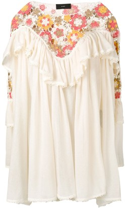 Alanui crochet tiered ruffle dress