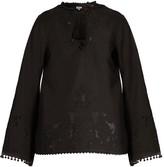 Talitha Collection Sana Cut-out Cotton Tunic - Womens - Black