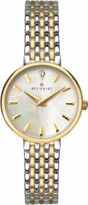 Accurist Womens Analogue Classic Quartz Watch with Stainless Steel Strap 8154