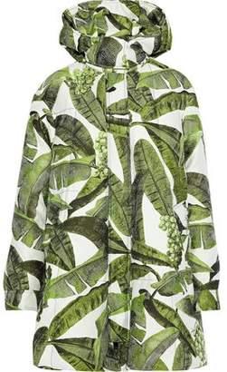 Oscar de la Renta Quilted Twill-jacquard Hooded Jacket