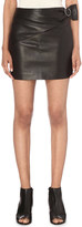 IRO Elodie leather mini skirt