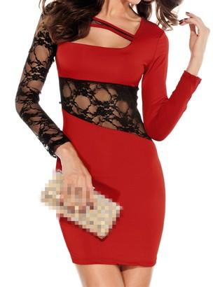 Ostenx Women's Dress - Red - M