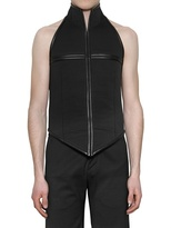 Gareth Pugh Stretch Wool Bonded Neoprene Vest