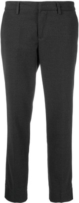 Fay Cropped Check Pattern Trousers