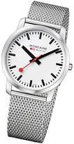 Mondaine A6383035016sbm Unisex Simply Elegant Mesh Bracelet Strap Watch, Silver/white