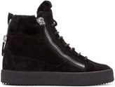 Giuseppe Zanotti Black Suede London High-Top Sneakers