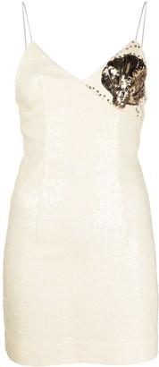 Rotate by Birger Christensen Sequin Shell-Motif Mini Dress