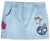Kenzo Denim Mini Skirt with Patches