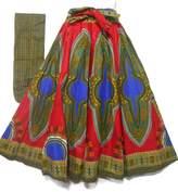 Decoraapparel Women's African Dashiki Maxi Skirt Long High Waist Skirt