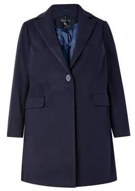 Dorothy Perkins Womens **Dp Curve Navy Minimal Lined Coat