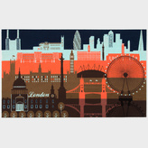 Paul Smith for The Rug Company - London Skyline Wallhanging