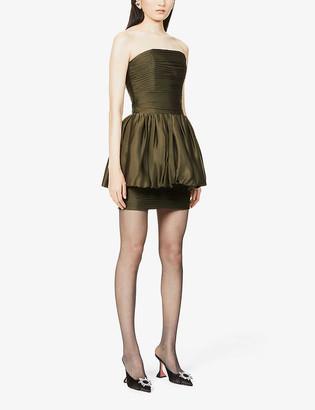Alexandre Vauthier Pleated silk-satin mini dress