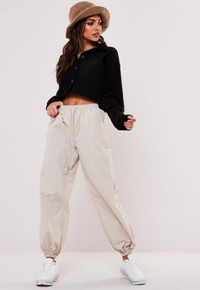 Missguided Black Cropped Fleece Shirt