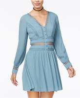 American Rag Embellished Illusion Fit & Flare Dress, Only at Macy's