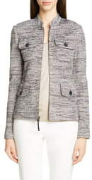 St. John Modern Ribbon Tweed Knit Jacket