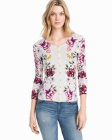 White House Black Market Floral Print Cardigan