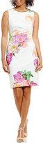 Calvin Klein Bold Floral Sunburst Dress