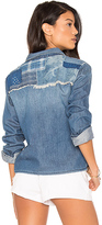 Joe's Jeans Josie Crop Button Up in Blue