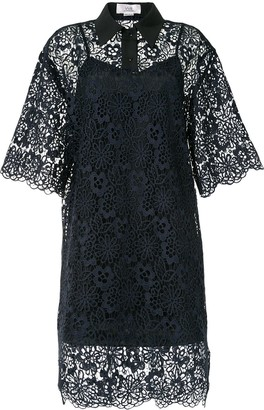 Victoria Victoria Beckham Lace Embroidered Shirt Dress
