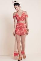 For Love & Lemons Luau Maxi Skirt in Red