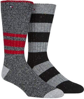 Tommy Hilfiger Men 2-Pk. Striped Boot Socks