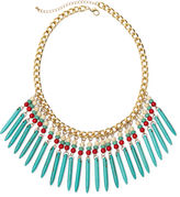 JCPenney BIJOUX BAR ROX by Alexa Multicolor Stones Fringe Necklace