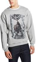 Star Wars Men's VII Kylo Ren Stormtroopers Poster Long Sleeve Sweatshirt