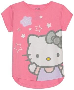 Hello Kitty Little Girls Stars Graphic T-Shirt