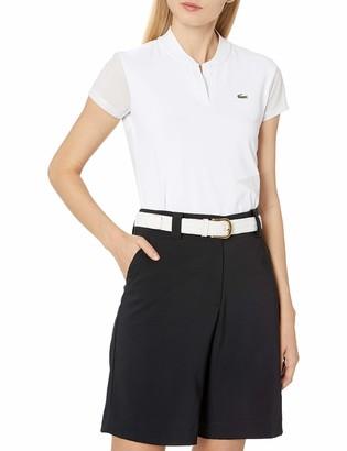 Lacoste Women's Sport Ultra Dry Stretch Jersey Banana Collar Golf Polo