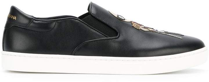 Dolce & Gabbana London slip-on sneakers with designers' patches