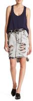 One Teaspoon Harley 2020 Distressed Denim Skirt