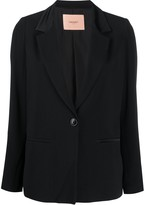 Twin-Set Twin Set satin collar blazer