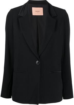 Twin-Set Satin Collar Blazer