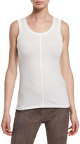 Elie Tahari Rheta Semisheer Knit Tank, Antique