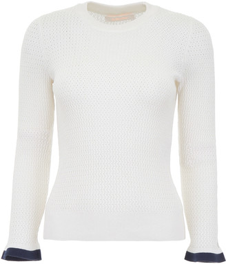 See by Chloe Perforated Knit Top