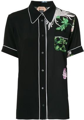 No.21 Floral Print Bowling Shirt