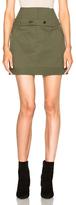 Marissa Webb Ricky Canvas Skirt in Green.