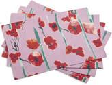 Sur La Table Purple Poppy Placemats
