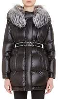 Prada Women's Fox-Fur-Trimmed Puffer Jacket