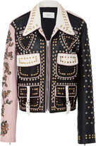 Rodarte Studded Cargo Leather Jacket