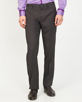Le Château Stripe Wool Blend Straight Leg Pant