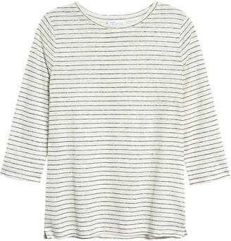 Nordstrom Signature Stripe Linen T-Shirt