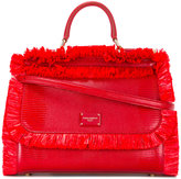 Dolce & Gabbana fringed detail handbag - women - Calf Leather/Viscose - One Size