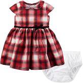 Carter's Baby Girl Plaid Taffeta Dress