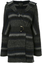 Roberto Collina striped belted coat