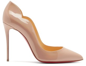 Christian Louboutin Hot Chick 100 Patent Leather Pumps - Nude Multi